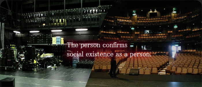 The person confirms social existence as a person.